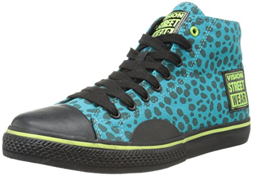 Vision Street Wear Women's Canvas HI-W, Teal/Black Jungle, 7 M US