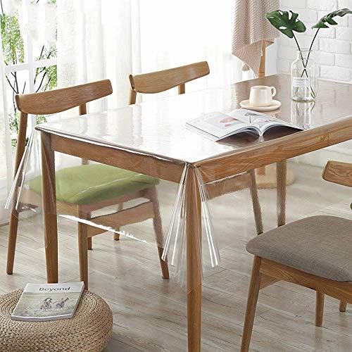 CAREXY Transparente PVC Folie,Rechteckig Wasserabweisend Langlebig Tischschutz Auflage Multifunktion Tischdecke Für Garten Outdoor Küche,A-180 * 300cm