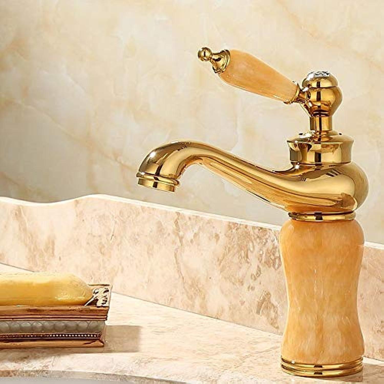Rmckuva Waschtischarmaturen Becken Wasserhahn Moderne Einhebel Wasserhahn Messing Mischer Gebogen Mund Jade Wasserhahn Gelb -06