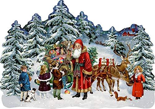 A3-Wandkalender – Schlitten im Winterwald