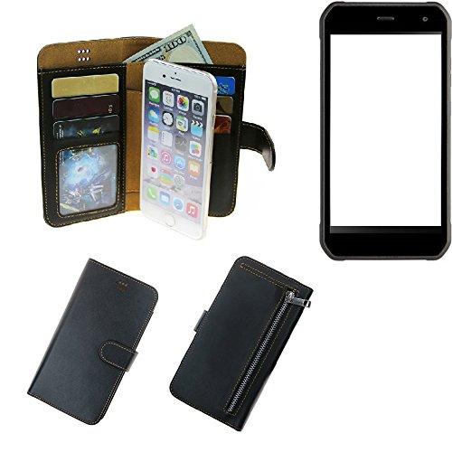 K-S-Trade® Für Cyrus CS 40 Schutz Hülle Portemonnaie Case Phone Cover Slim Klapphülle Handytasche Schutzhülle Handyhülle Schwarz Aus Kunstleder (1 STK)