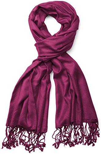 styleBREAKER Stola Schal/Tuch in vielen verschiedenen Farben 01012035 (70 x 180 cm, Bordeaux-Violett)