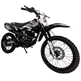 X-PRO Hawk 150cc Adults Dirt Bike Pit Bike Youth Dirt Pit Bike 125 Dirt Bike Dirt Pitbike,Big 19'/16' Wheels! (Black)