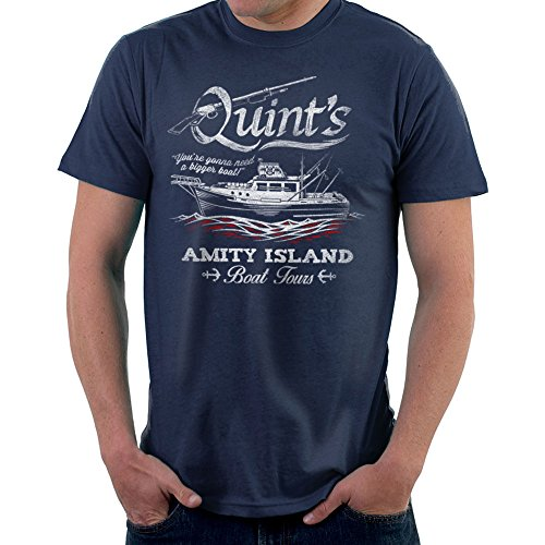 Quints Amity Island Boat Tours Jaws Men's T-Shirt
