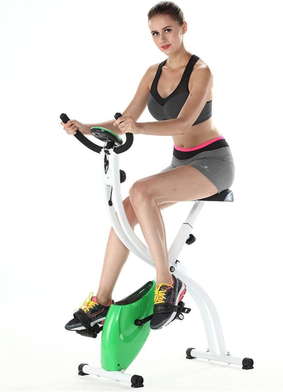 Allibuyste Fitness Bike Heimtrainer, Dual-Use-Bauch-Heimtrainer Zwei-Wege-Folding Magnetic Control Rotierende Spinning-Fahrrad Multi-Funktions-Büro-Fitness - Bequeme Lagerung Full Folding