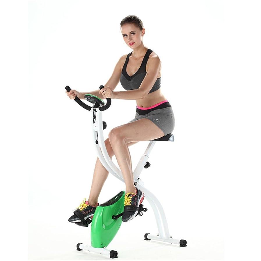 ポスター感情レンダー室内自転車 フィットネスバイク S字型家庭用超静かな2ウェイ折りたたみ磁気制御フィットネス自転車ジムスピニングバイク エアロフィットネス バイク