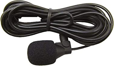 Jensen JMICHFP Omnidirectional Microphone, 12ft. Cable Length, Locking Connector, Visor Clip and 3M Adhesive Pad Included, Works with all JENSEN Heavy Duty Bluetooth Radios