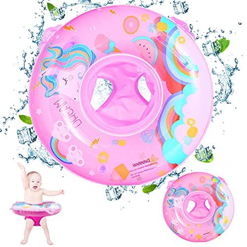 Anello di Nuoto, Ciambella Neonato, Salvagente per Bambini, Gonfiabili per Bambini, Piscina Gonfiabile Bambini, Galleggiante per Piscina per Bambini per 6 - 36 Mesi (Rosa)