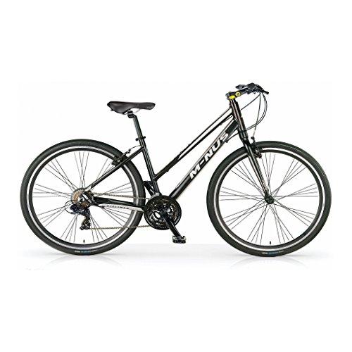 MBM 561D/18 M-Nus, Bicicletta Ibrida Donna, Nero A01, Taglia Unica
