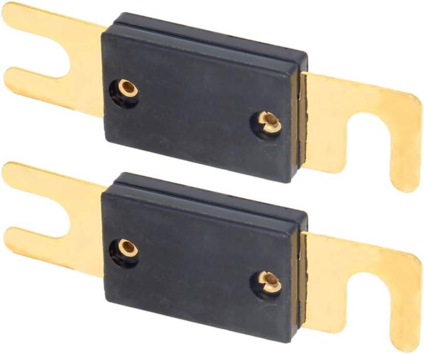 Fielect 2pcs Black Automotive Cartridge Fuse 100A Case Fuse Box for Car Truck Vehicle