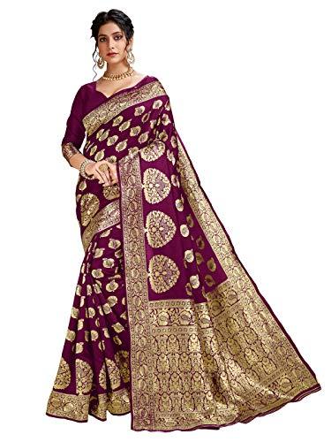 HAOK Sarees For Women's Banarasi Art Silk Indian Sari | Tradicional tejido...