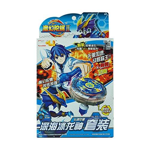 WeiX Peonzas,Lanzador Beyblade,Fighting Top Blade Evolution Launcher gyro Top Novedad Spinning Toy,Adecuado para niños de 8 años en adelante, Juguetes, Regalos,Azul
