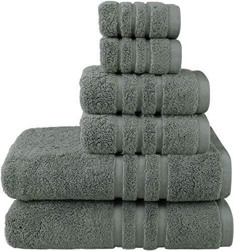 Josmon Towel Sets, 100% Cotton Bath Towels Set 6 Pieces for Bathroom, Luxury Highly Absorbent Hotel Spa Gym 2 Bath Towels 2 Hand Towels 2 Washcloths,...