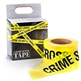 Police Crime Scene Tape, 1000ft - Halloween Decoration for Haunted Houses, Scary Settings, Yard Decor, Safety Sites, Halloween Parties, Warning Signs, & Danger Warnings - Haunted House Decorations