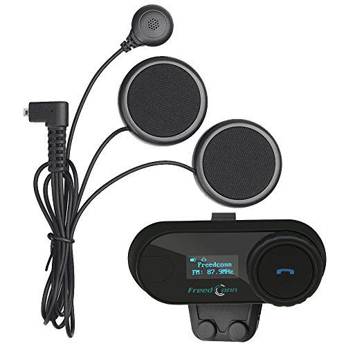 FreedConn Moto Motociclista Casco Bluetooth TCOM-SC Intercom Interfono Inalambrico Intercomunicador Equitación Esquí...