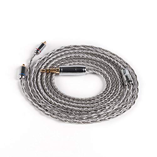 16 Core Silver Plated Copper Earphone Cable, Upgraded in Ear Monitor Replacement Cable for Shure SE846 SE535 SE215 SE315 TIN T2 T3 T4 P1 T2 Plus SmabatST10ST10S BGVP DMG DM6