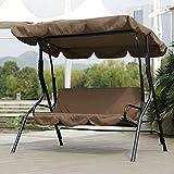 Jimfoty Cojín de Asiento Giratorio, Cojines de Asiento Impermeables al Aire Libre para sillas Cojín de Asiento de Hamaca giratoria para Patio jardín(marrón)