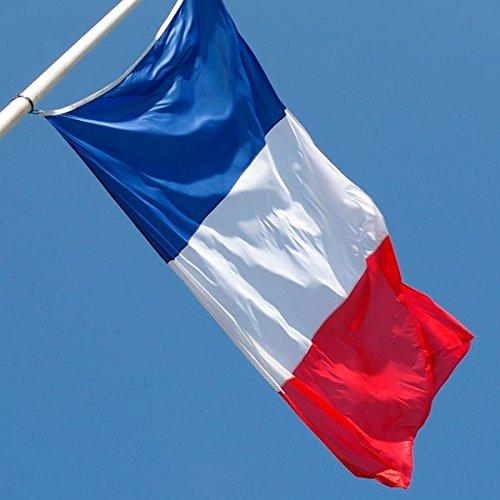 LAS COSAS QUE IMPORTAN Bandera DE Francia Grande. Incluye 2 Orificios para MASTIL O Cuerda.