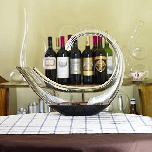 Decantador de vino de vino de cráneo y gafas Set Scorpion Wine Anter 100% Mano Blown Glass Libre de plomo, mejorando el sabor y el aroma del vino, accesorios de vino Diseño transparente Botella de vid
