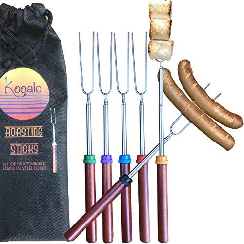 Kooalo Roasting Sticks - Premium Extendable Marshmallow Smores...