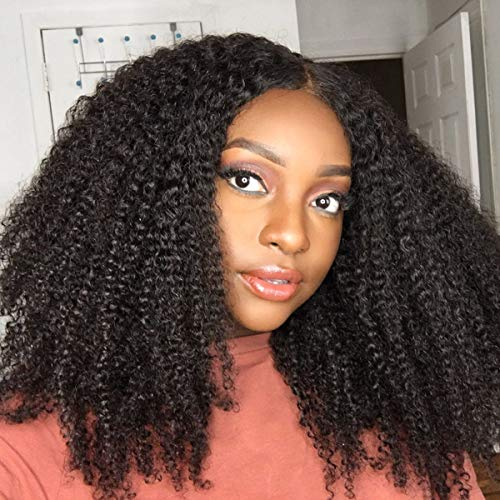 Yvonne Kinky Curly Human Hair Weave 3 Bundles Brazilian Virgin Hair Extension with Natural Color (18 18 18)