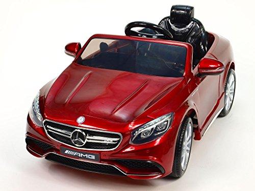 S 63 Rot Kinderauto Kinderelektroauto Kinderelektrofahrzeug Kinder elektroauto 12V Orginal RC Mercedes s 63 AMG