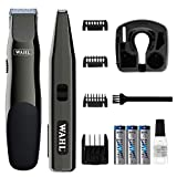 Wahl Professional Animal Touch Up & Stylique Dog Trimmer Combo Kit #9990-1201,Black Chrome