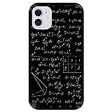 Hapdey Funda Negra para [ Apple iPhone 11 ] diseño [ Cálculos matemáticos, soluciones de tareas ] Carcasa Silicona Flexible TPU