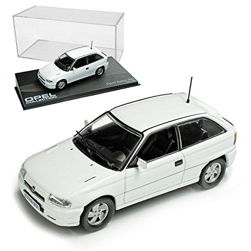 Opel Astra A GSI 1991-1996 Weiss 3 Türer Nr 61 1/43 Ixo Modell Auto mit individiuellem Wunschkennzeichen