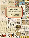 Halloween Ephemera Collection: 18 sheets - over 190 vintage Ephemera pieces for DIY Halloween cards,journals and decoration (Vintage Ephemera Collection, Band 4)