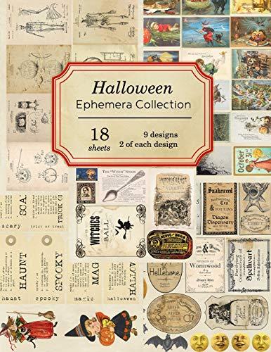 Halloween Ephemera Collection: 18 sheets - over 190 vintage Ephemera pieces for DIY Halloween cards,journals and decoration (Vintage Ephemera Collection)
