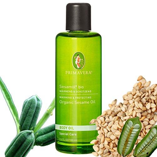 Primavera Bio Körperöl Massageöl 100% naturreine ätherische Öle, Duft:Sesamöl Bio