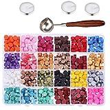600pcs Tenuta Beads ceralacca Cera per Wax Seal Timbro con Cera cucchiaino Candele di Cera del Bollo della Guarnizione