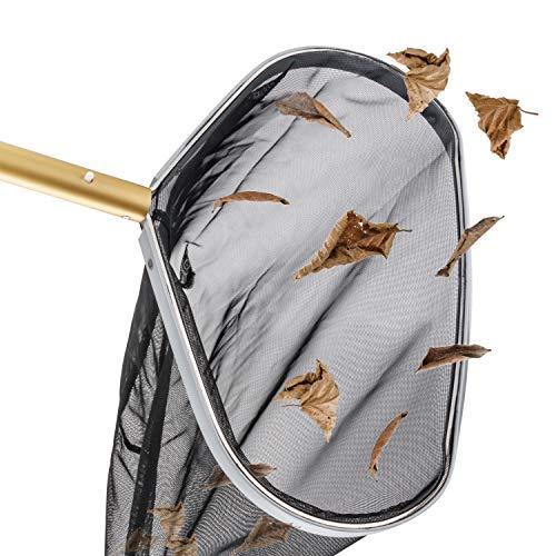 Magicfun Skimmer de Piscinas De Gran Tamaño (42CM), Marco de Metal, Adecuado para Spas, Jacuzzis, Acuarios, para Limpiar Las Hojas y Los Desechos De La Piscina, Negro (No Incluye el Mango)