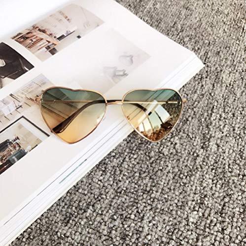 BHLTG Sonnenbrille Frauen Flut Persönlichkeit Mode Süße Nette Pfirsich Herz Sonnenbrille Japanische Transparente Sonnenbrille Strand Mirror-7