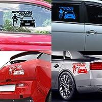 BBYT 面白いオートステッカーとデカールカースタイル19.5 * 15.5cm車のステッカーの自動装飾車のアクセサリー尊敬 (Color : White)