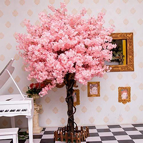 LNDDP Künstliche Kirschblüten Blumen Gefälschte Reben Blumen Indoor Outdoor Home Party Hochzeit Home Decor Seidenpflanze 1,6 m