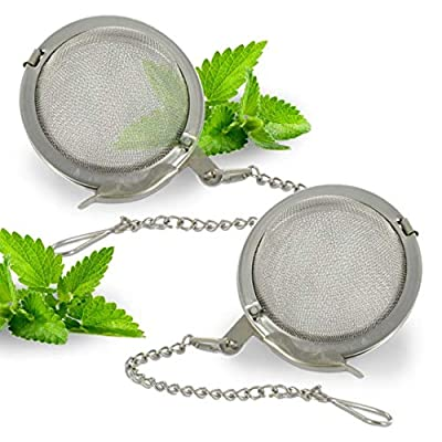 Happy Sales 2 inch Stainless Steel Tea Infuser filter Strainers, SET OF 2