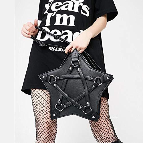 jypcbhb Damen Pentagram Handtasche Multifunktionale Schicke Kette Lässige Umhängetasche