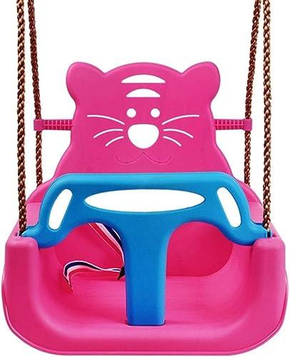PIAOLING Kinderschaukel Indoor Home DREI-in-Einem Baby Sitz Outdoor Baby Schaukelstuhl Baby Spielzeug (Farbe   Rosa)