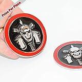 SAISDON- Bope Brazil Pirate Chrome Black Red Metal Hq 3D Badge Car Trunk Side Door Fender Auto Emblem Logo Adhesive [1 Piece][5252CHBKRD]