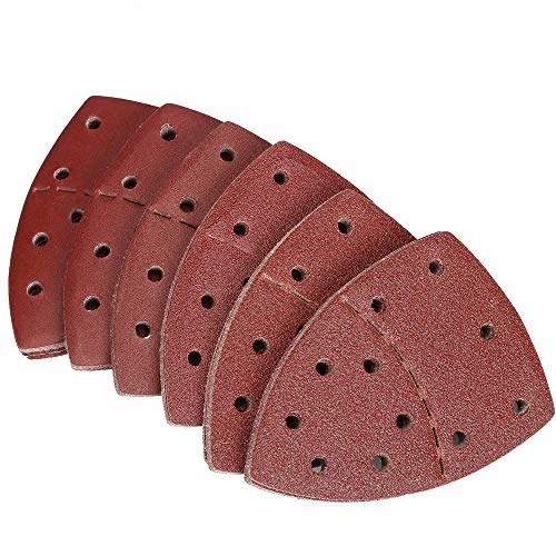 CLKDB 20pcs Mouse Sanding Sheets Hook and Loop Sander Pads 11-Holes Sand Paper Grits 40/60/80/120/180/240/ Fit,120