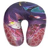 XCNGG Anime Chuunibyou Demo Koi Ga Shitai Almohadas en forma de U Almohada portátil de viaje para el cuello, almohadas suaves para exteriores, transpirables, cómodas almohadas de espuma viscoelástica,
