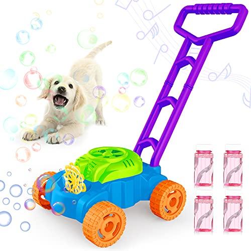 BANLEIYU Bubble Machine for Kids Lawn Mower Bubble Machine with Music Bubble Maker with Bubble...