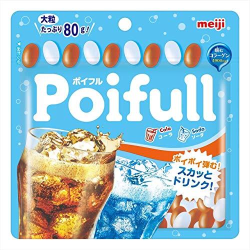 明治 大粒ポイフルパウチコーラ&ソーダ 80g ×10袋
