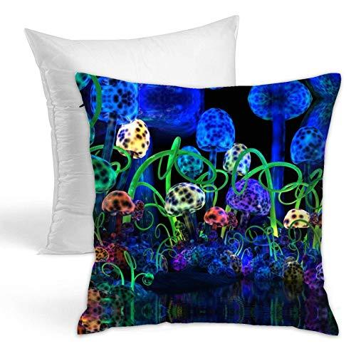 Fluoreszierender Pilz-Kissenbezug, Volleyball, luxuriöse Heimdekoration für Couch, Sofa, Schlafzimmer, Wohnzimmer, luxuriös, dekorativ