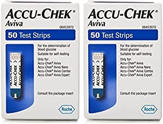 Accu-chek Aviva Glucose Test 50 Strips (PACK OF 2)
