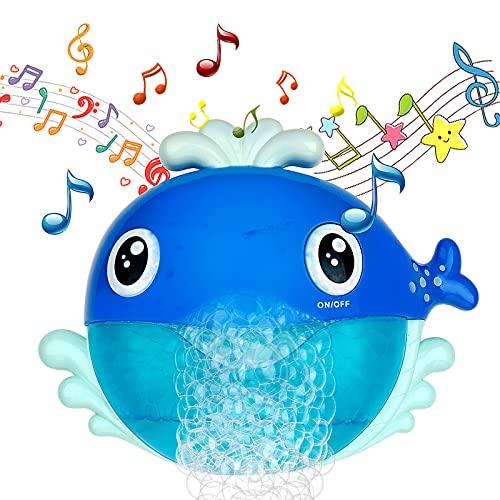 MOOKLIN ROAM Kinder Badewannenspielzeug, Wal Wasserspielzeug Blase Badespielzeug, Kleinkindspielzeug Wasserspiel für Badewanne Jungen oder Mädchen