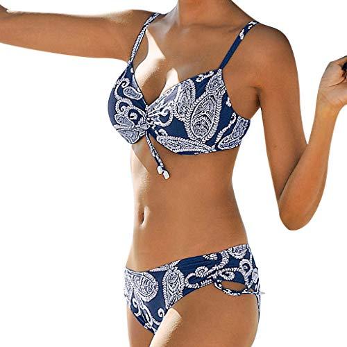 Sylar Bikini Mujer Push-up, Traje De Baño Mujer Dos Piezas Estampado Vintage...