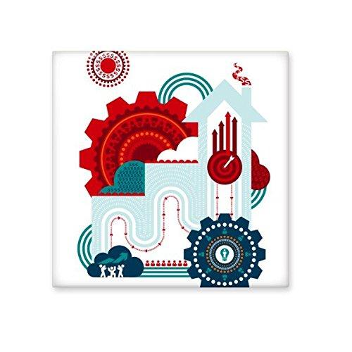 DIYthinker Graffiti Street Culture contrasterende gekleurde tandwiel-klokgever House Art illustratie patroon keramiek bisque tegels voor het decoreren van badkamerdecoratie keuken keramische tegels wandtegels S